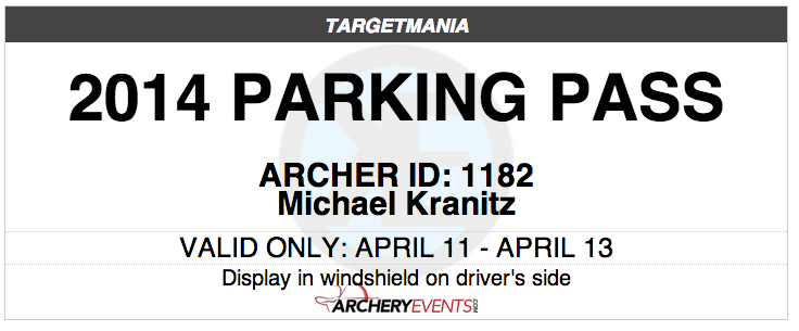 Contestants can print their own parking passes that contain your event watermark, the event title, the date and a unique contestant identification and contestant name number to curtail re-use and help you locate a contestant whose vehicle is improperly parked. <br><br>
