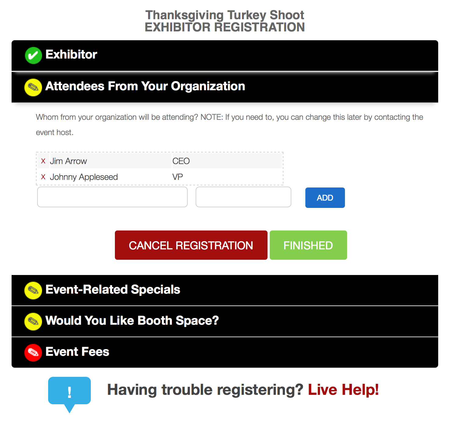 With our exhibitor registration module, you can set up exhibitor registration in minutes.