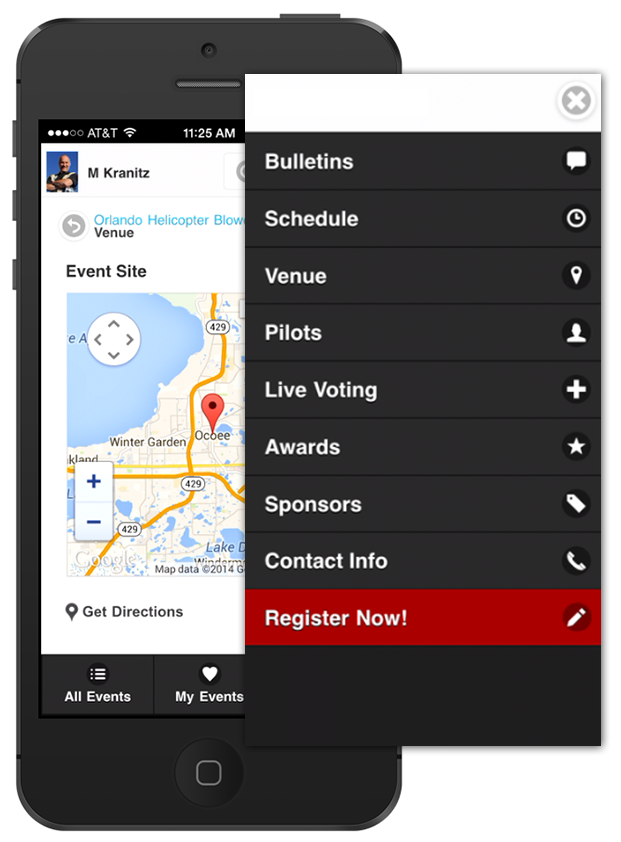 Why pay thousands of dollars for a custom mobile app when you already have one the instant you post an event?  